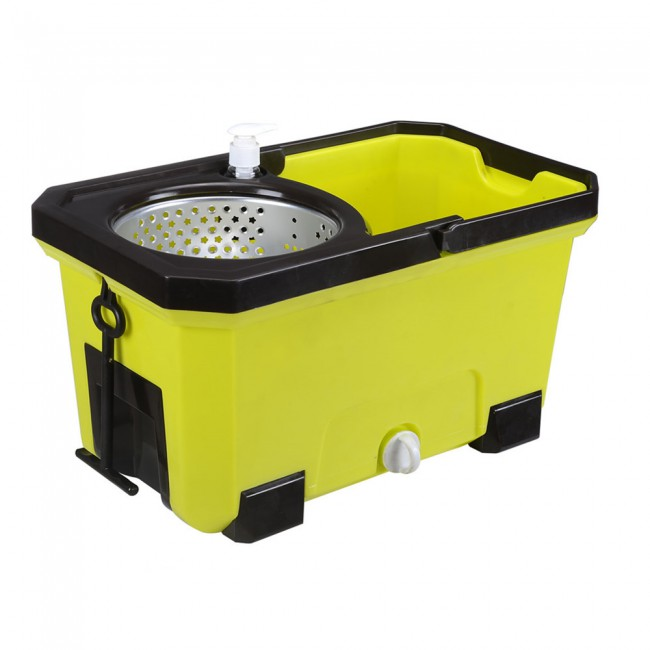 Deluxe walkable bucket mop as seen on TV spin mop bucket