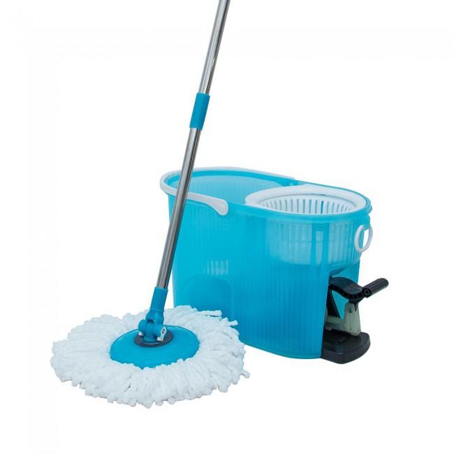 Transparent Blue Easy Magic Mop Floor 360