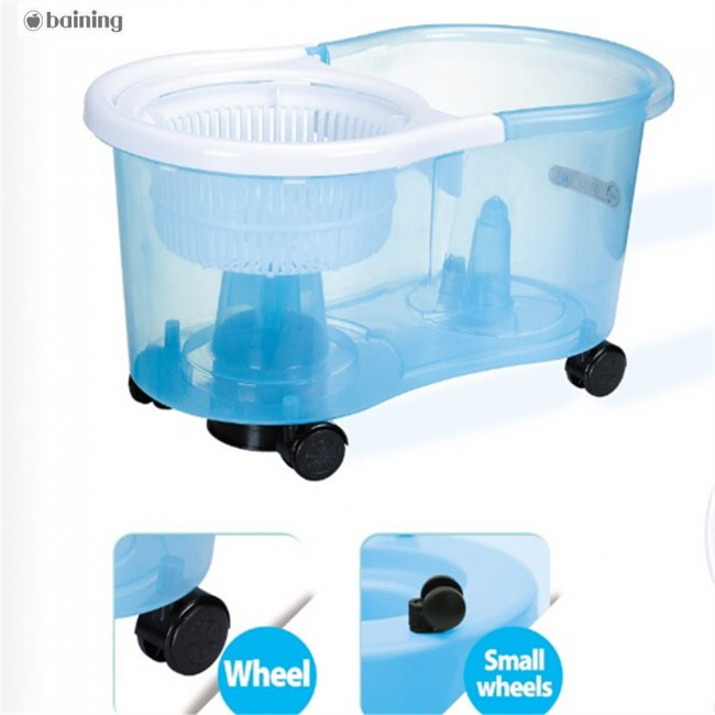 With wheels Mop and Broom Holder Wall Mop Spin Easy Mop